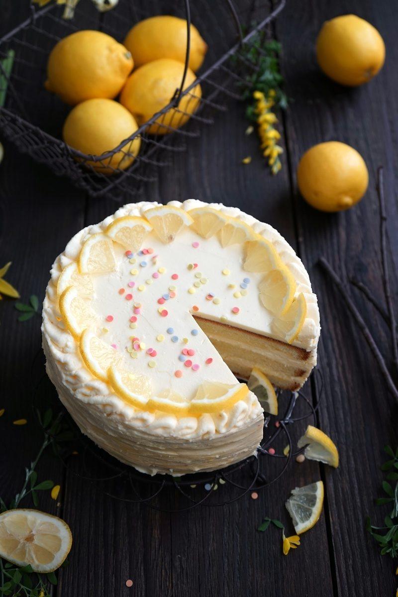 Rezept Lemon Curd Torte – klein, fein und himmlisch fruchtig!