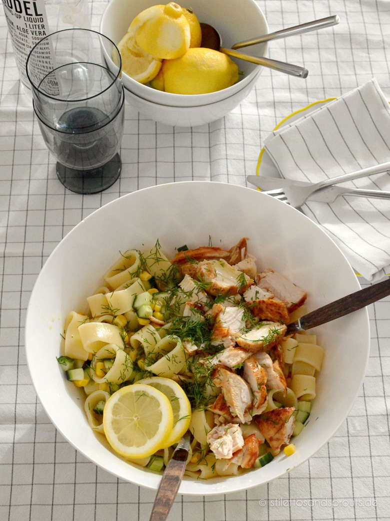 Rezept Lemon Pasta Chicken Salad