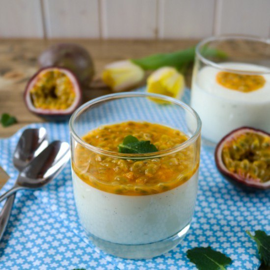 Rezept Limetten-Buttermilch-Mousse mit Maracuja