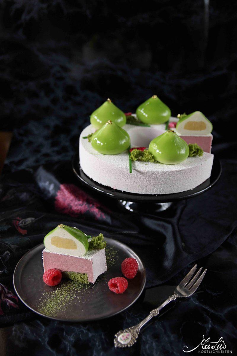 Rezept Limetten-Himbeer Torte mit Rose & Matcha