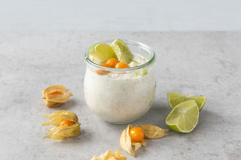 Rezept Limetten-Kokos-Overnight Oat