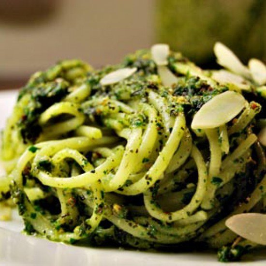 Rezept Linguine mit Kürbiskern-Minze-Pesto