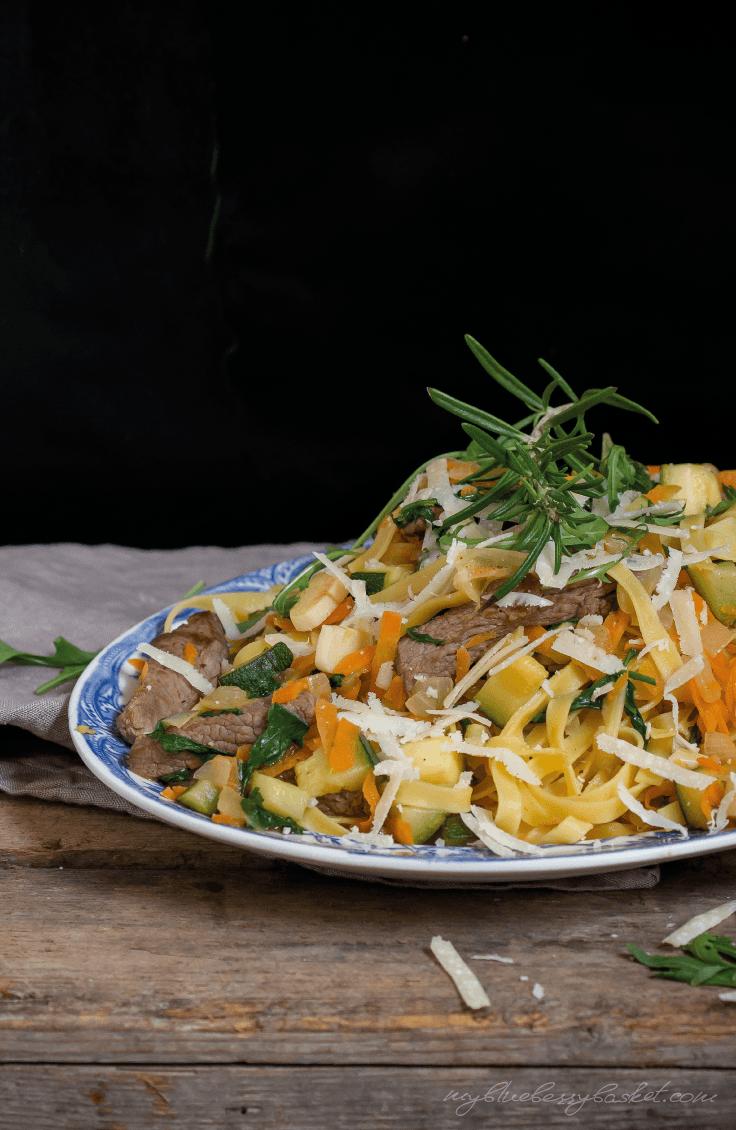 Rezept Linguine mit Steak und Rucola