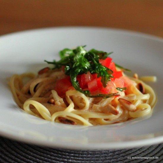 Rezept Linguine mit weißer Tomaten-Vanille-Sauce