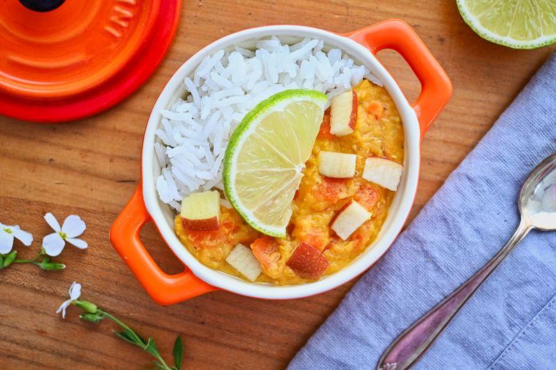 Rezept Linsen-Karotten-Curry mit Limette und Apfel