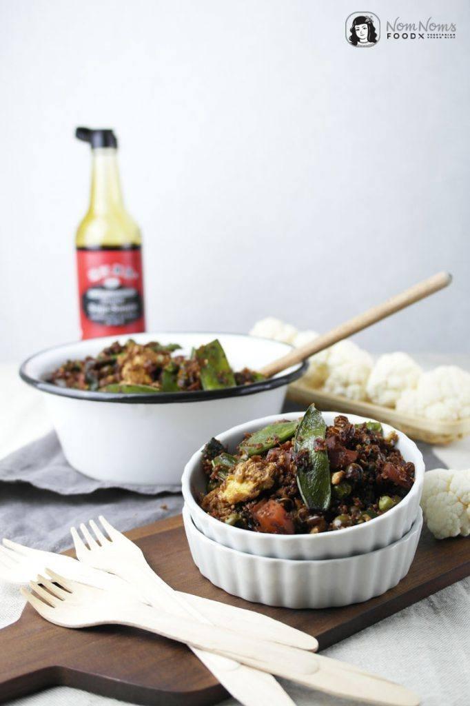 Rezept Low Carb: Gebratener Blumenkohlreis mit Gemüse