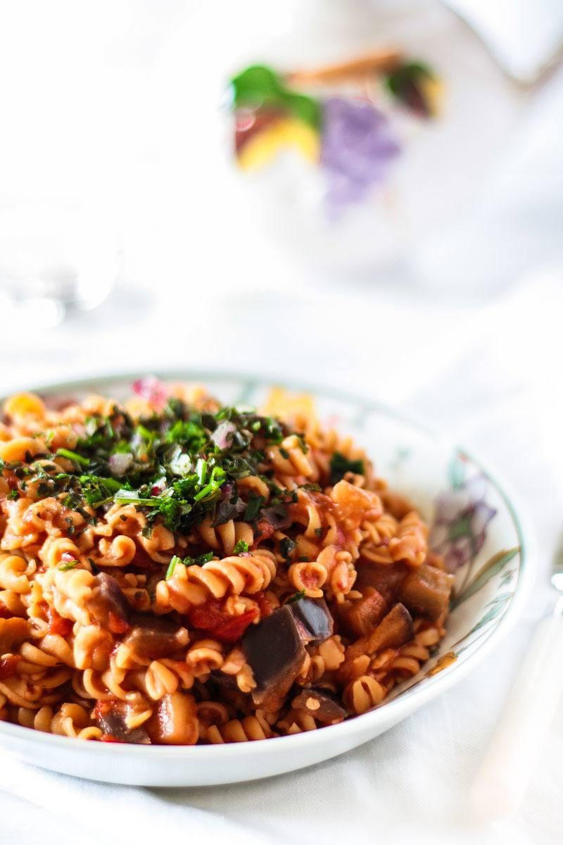 Rezept Low Carb One-Pot Kichererbsen Pasta