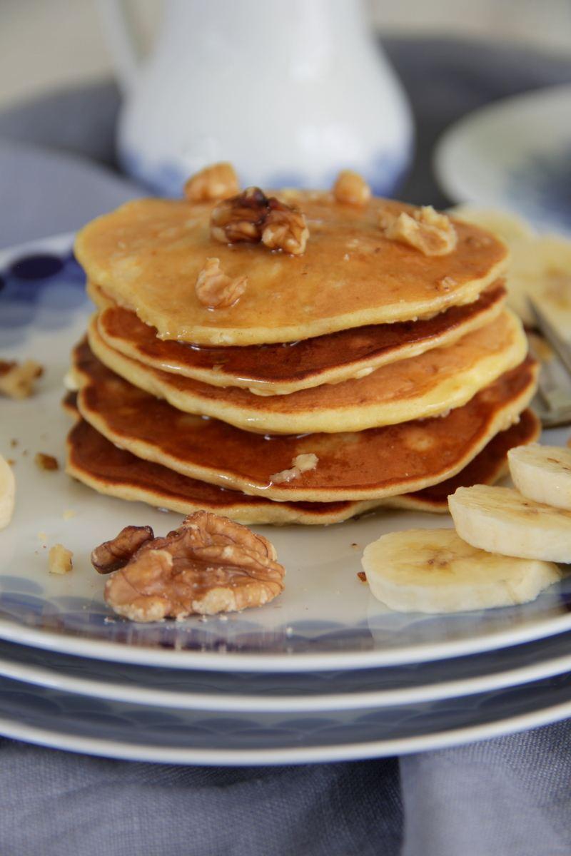 Rezept Low carb Pancakes mit Hüttenkäse und Banane