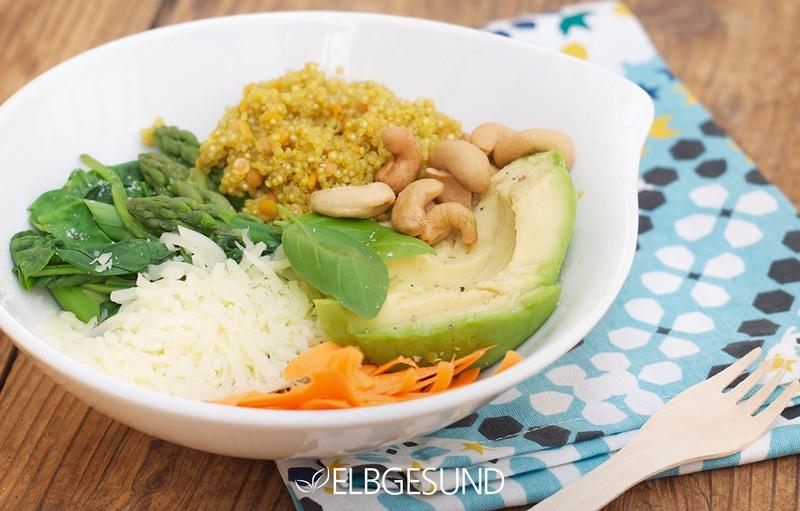 Rezept Lunch-Liebling – eine leckere und gesunde Bowl mit allem, was ich mag!