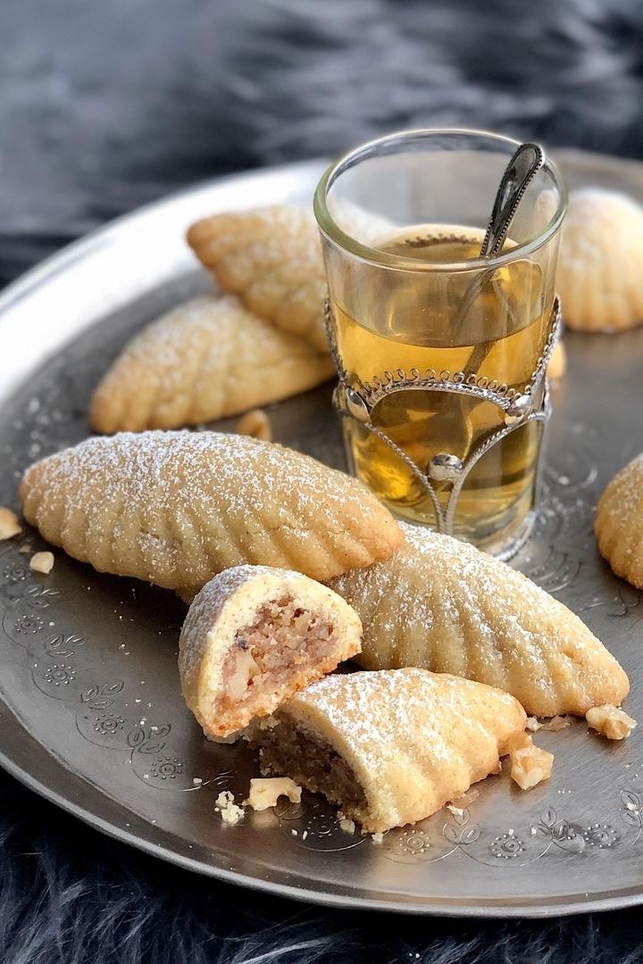Rezept Maamoul – arabisches Grießgebäck mit Walnuss- und Dattelfüllung