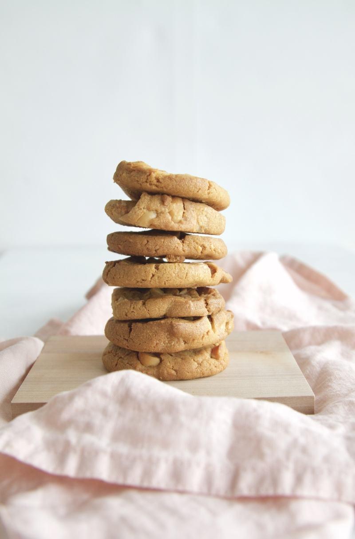 Rezept Macadamia Karamell Kekse