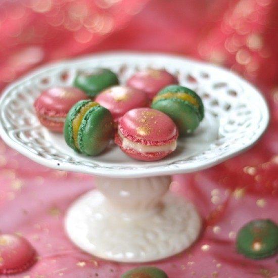 Rezept Macarons für Weihnachten mit Weihnachtsgewürze – Grapefruitcurd und Calisson-Creme