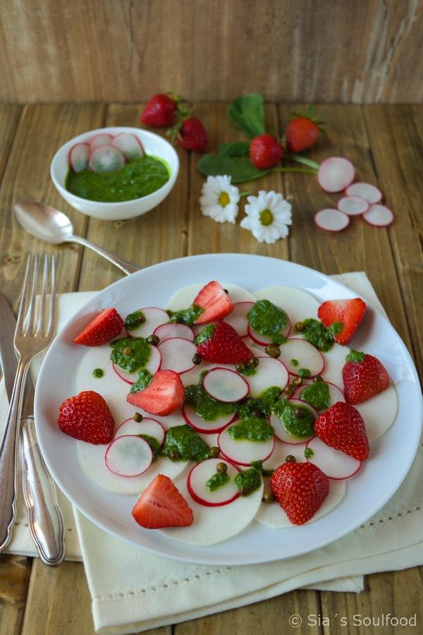 Rezept Mairüben-Erdbeer-Salat