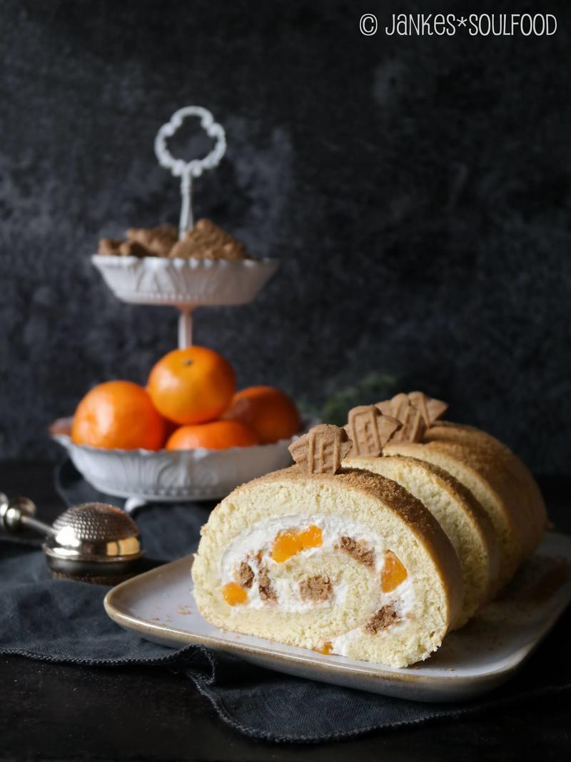 Rezept Mandarinen-Biskuitrolle