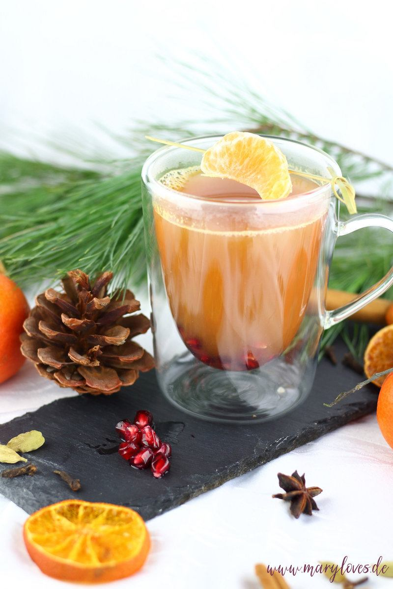 Rezept Mandarinen-Granatapfel-Punsch für Kinder & Erwachsene