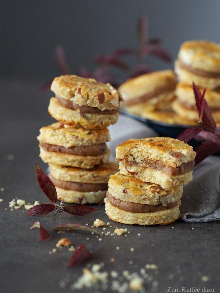Rezept Mandel-Cookies mit Maronencreme