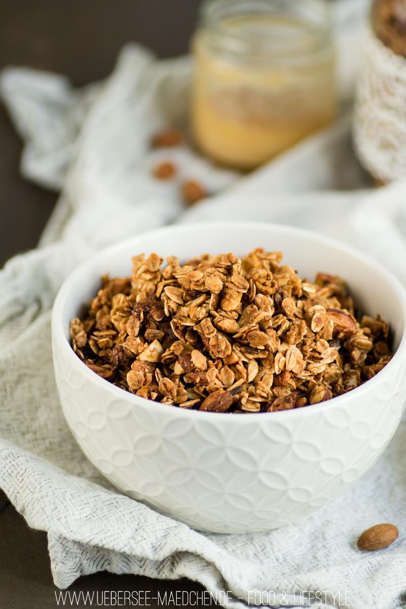 Rezept Mandel-Granola sehr crunchy mit Honig und Vanille