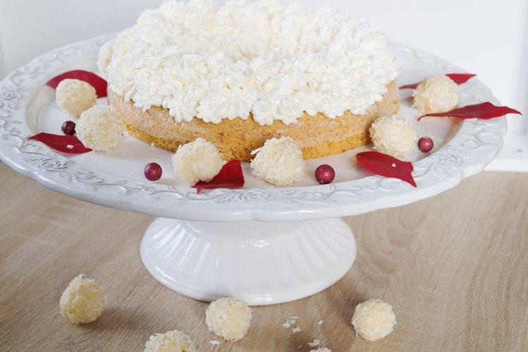 Rezept Mandelkuchen mit Cheesecake Topping