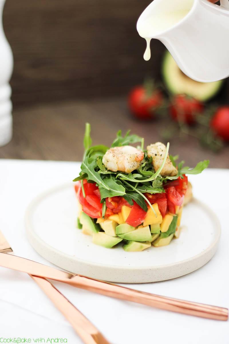 Rezept Mango-Avocado-Salat mit Garnelen