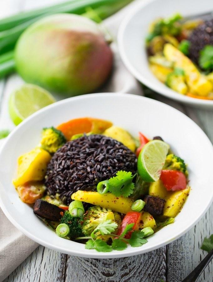Rezept Mango Curry mit schwarzem Reis