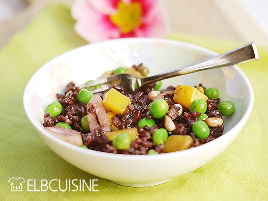 Rezept Mango Explosion – exotischer Mango-Erbsen-Wildreis-Salat