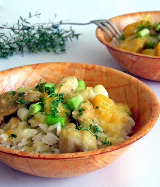 Rezept Mango Hähnchen mit Reis