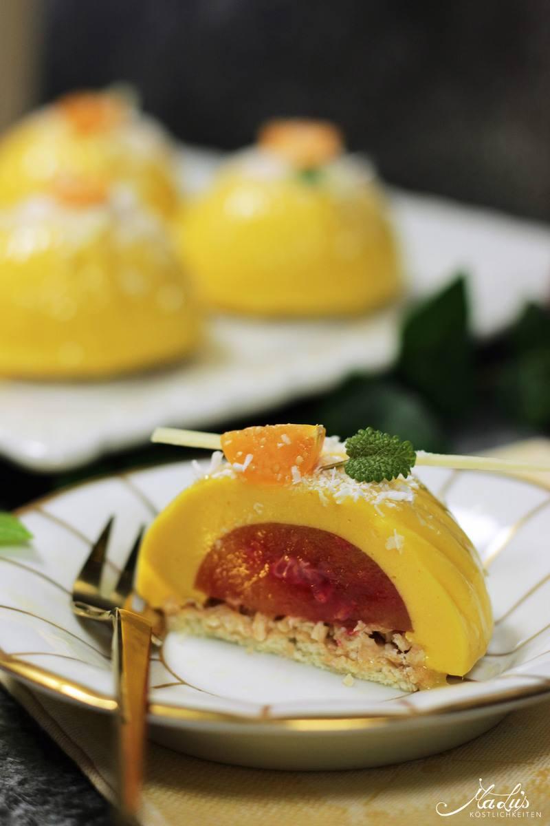 Rezept Mango-Himbeer-Kokostörtchen