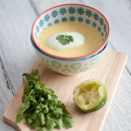 Rezept Mango-Ingwer-Süppchen mit Korianderschaum