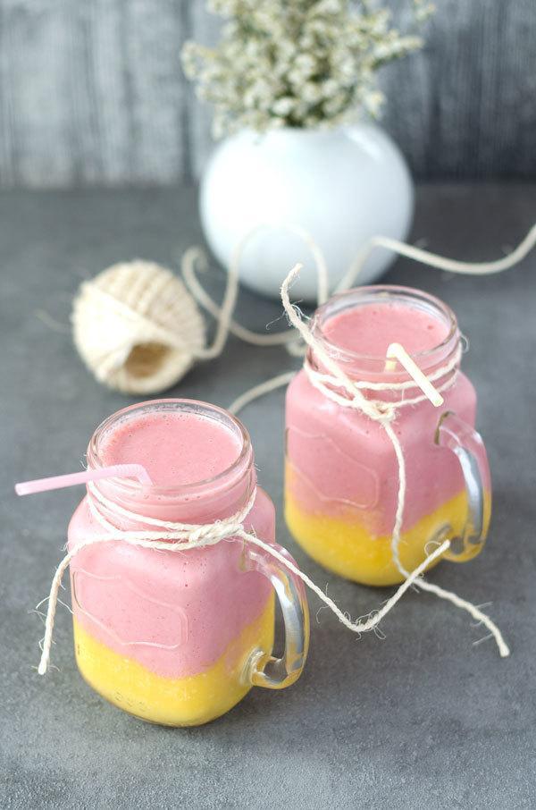 Rezept Mango-Kokos-Erdbeer Smoothie
