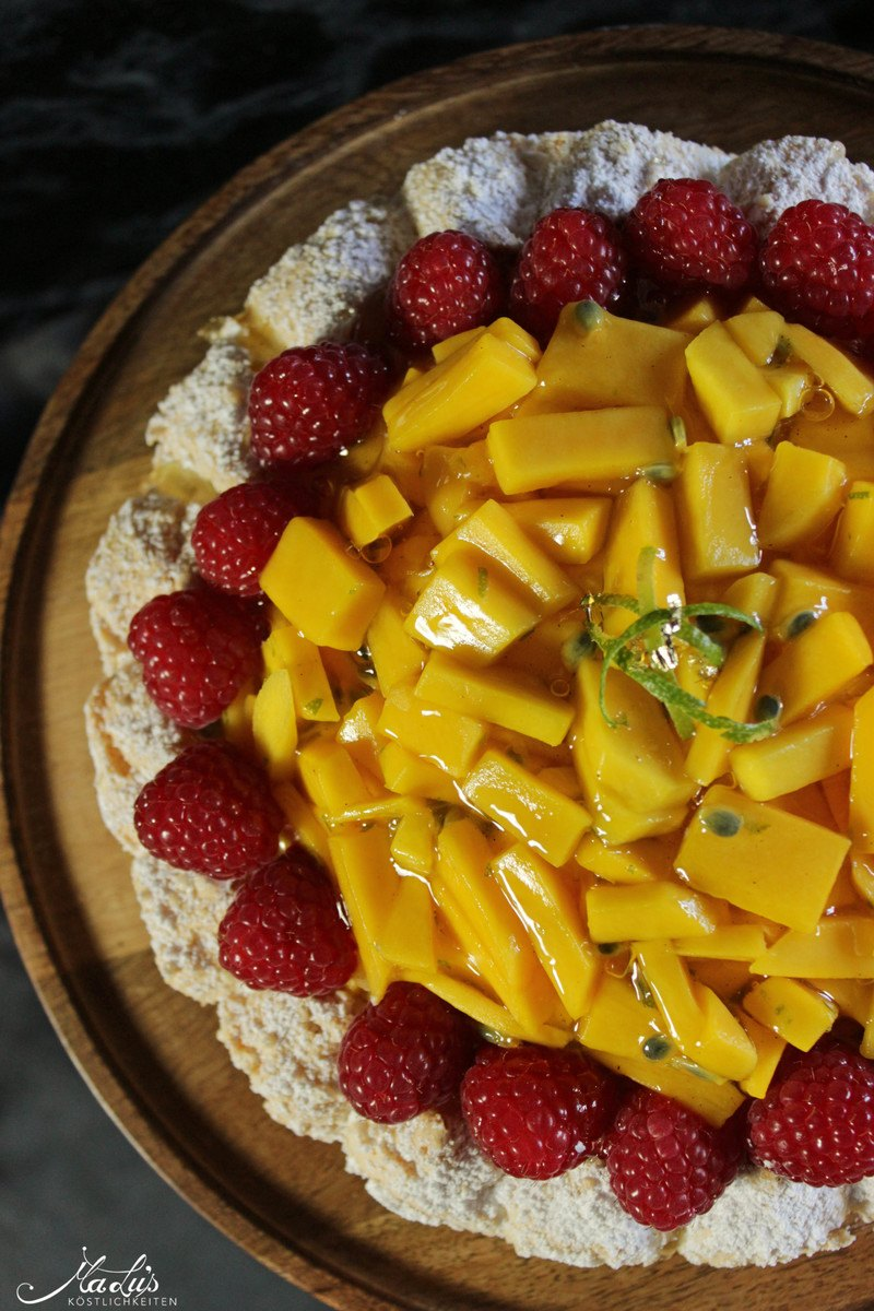Rezept Mango-Kokosmakronen Torte