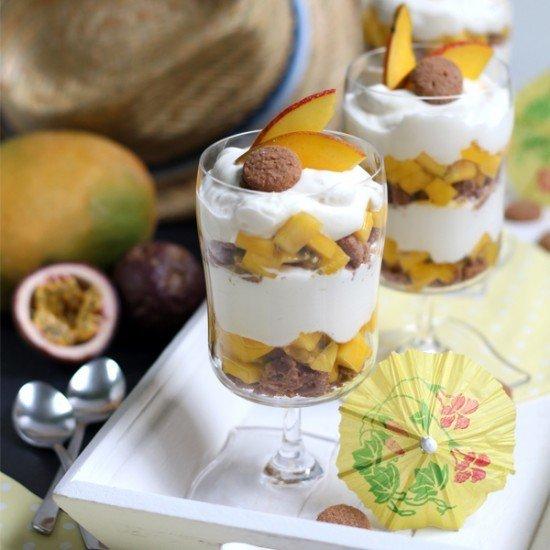 Rezept Mango Maracuja Schichtdessert