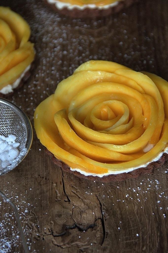 Rezept Mango-Tartelettes mit Schokoknusperboden