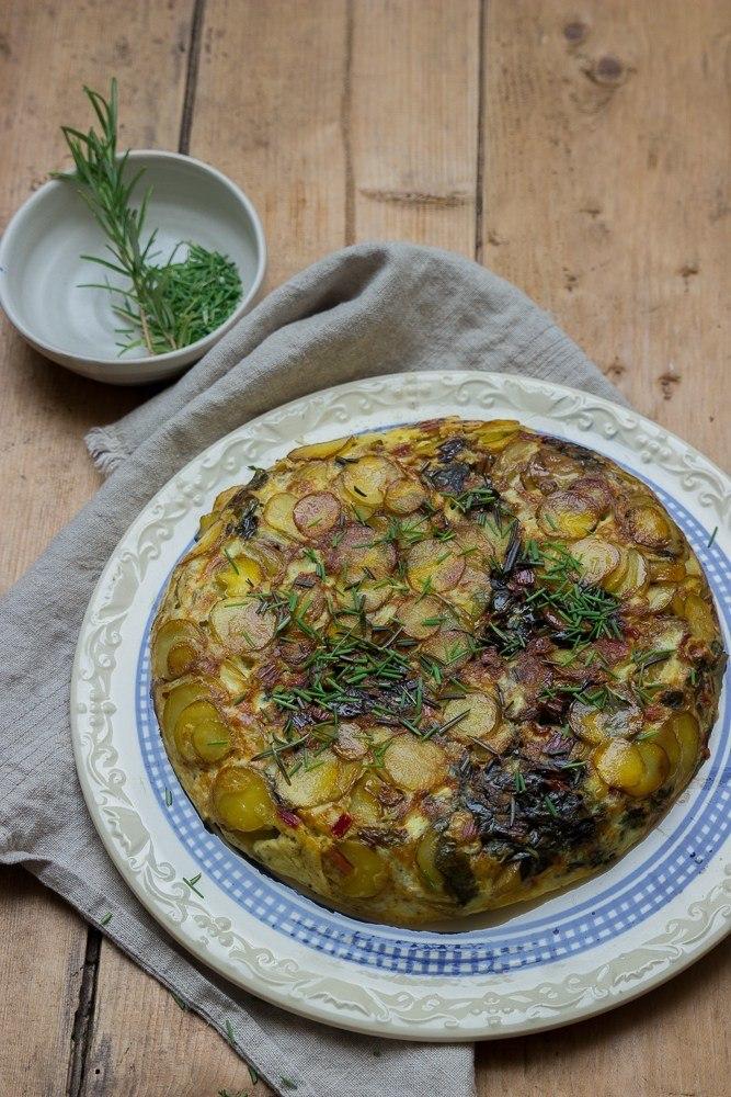 Rezept Mangold-Frittata mit Schnittlauch