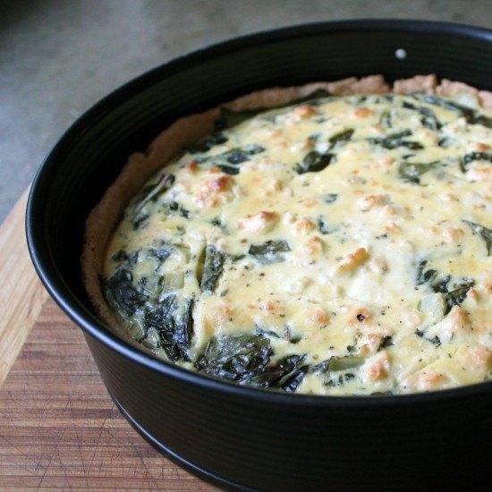 Rezept Mangold-Quiche mit Feta