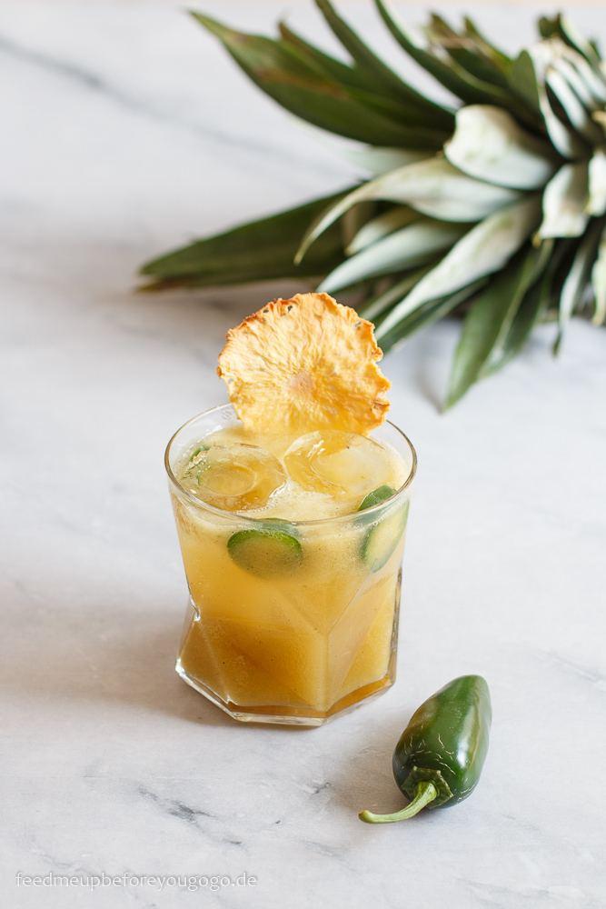 Rezept Margarita mit gegrillter Ananas und Jalapeño