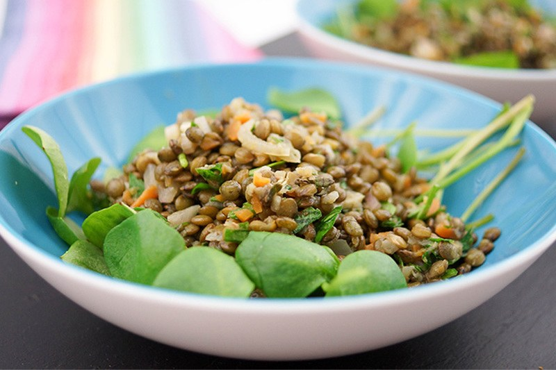 Rezept Marinierter Linsen-Salat mit Postelein