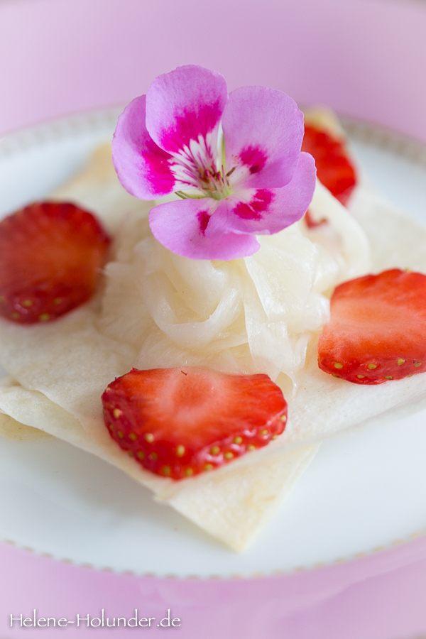Rezept Marinierter Spargel mit Erdbeeren auf Filoteig, natürlich vegan!