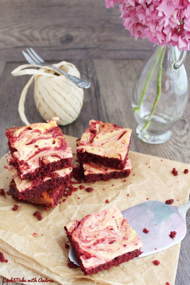 Rezept Marmorierte Red-Velvet-Brownies
