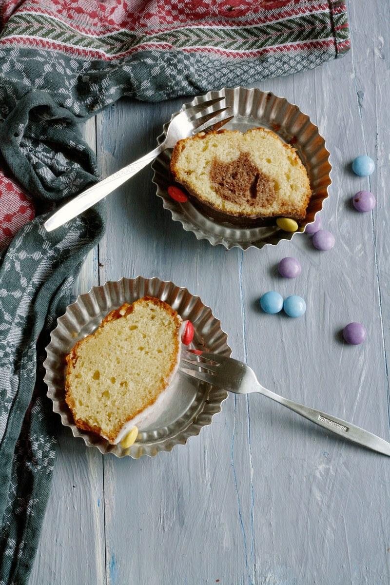 Rezept Marmorkuchen und Zitronenkuchen in einer Form