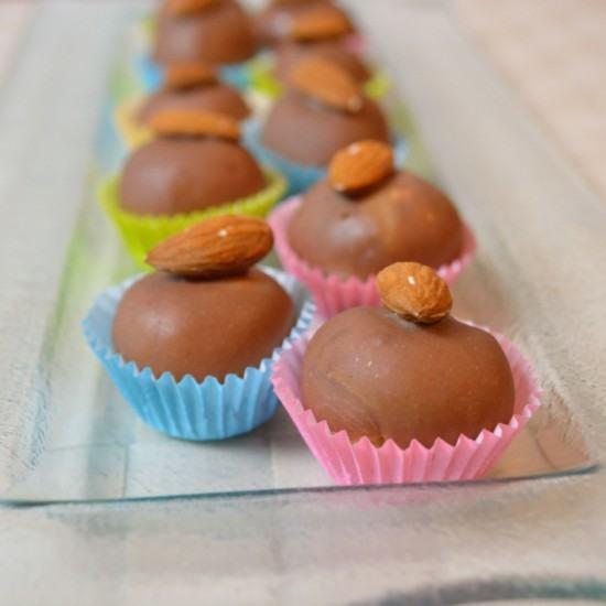 Rezept Marzipan-Nougat-Pralinen für Anfänger