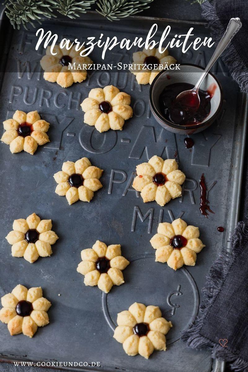 Rezept Marzipanblüten (Marzipan-Spritzgebäck)