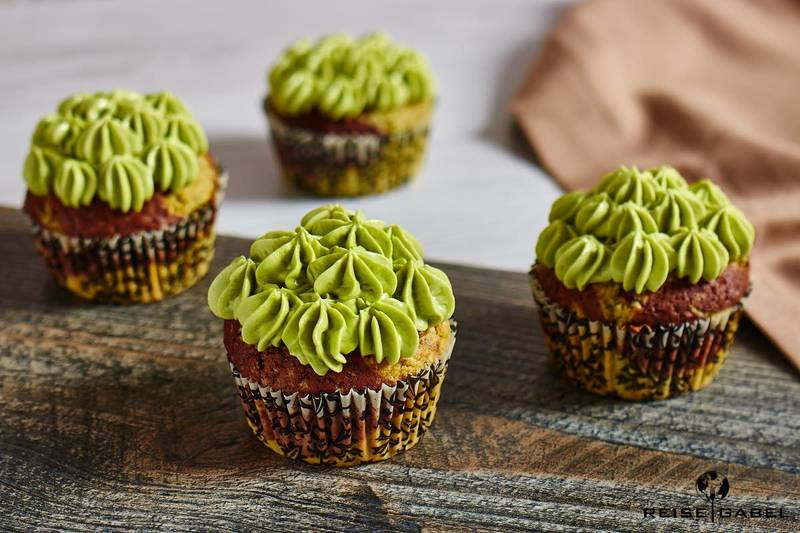 Rezept Matcha Cupcakes mit Schokolade
