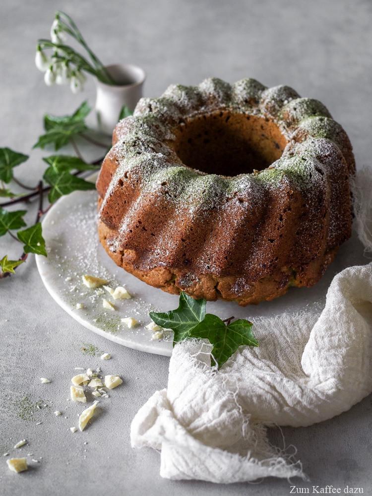 Rezept Matcha-Kuchen mit Vanille und weißer Schokolade