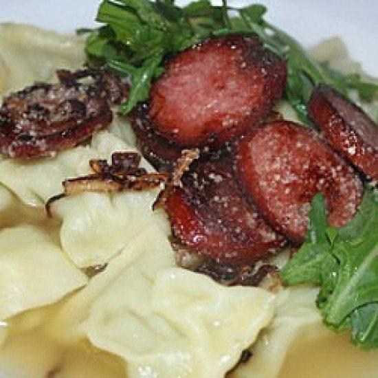 Rezept Maultaschensuppe mit Cabanossi