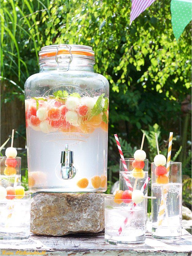 Rezept Melone & Russian wild Berry Spritz ( Alkoholfrei )