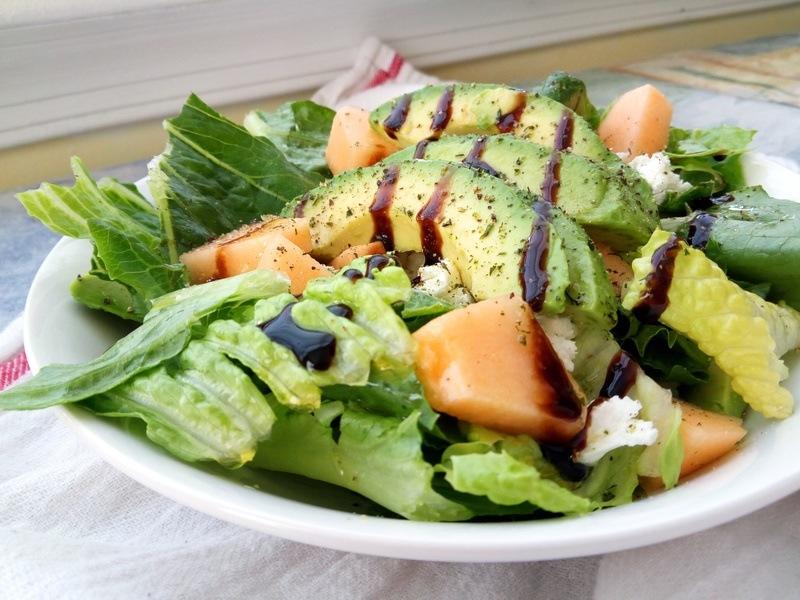 Rezept Melonen-Feta-Avocado-Salat