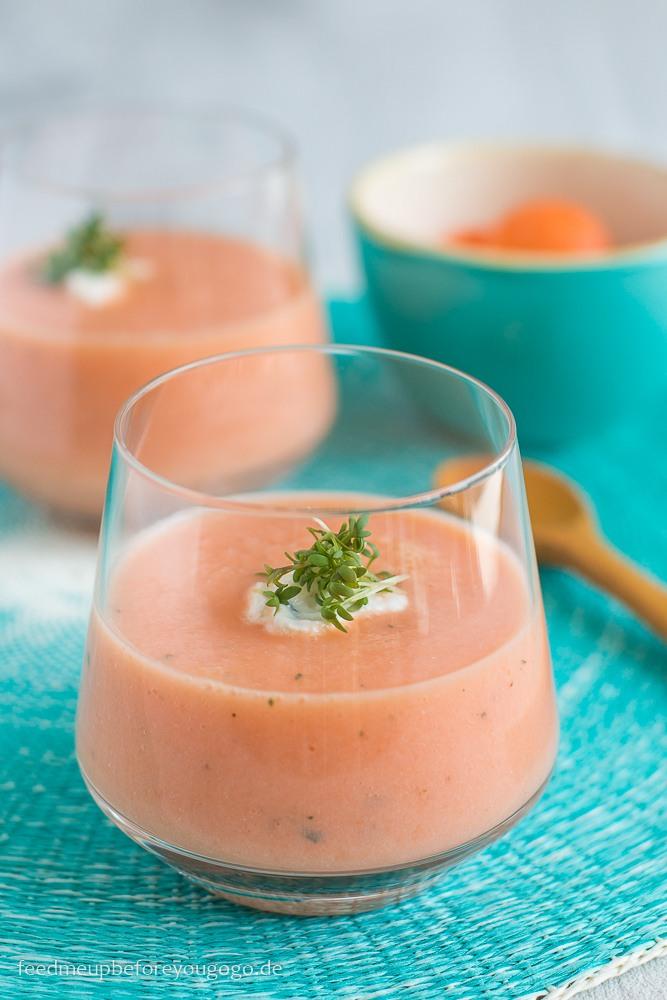 Rezept Melonen-Gazpacho mit Estragon und Kresse