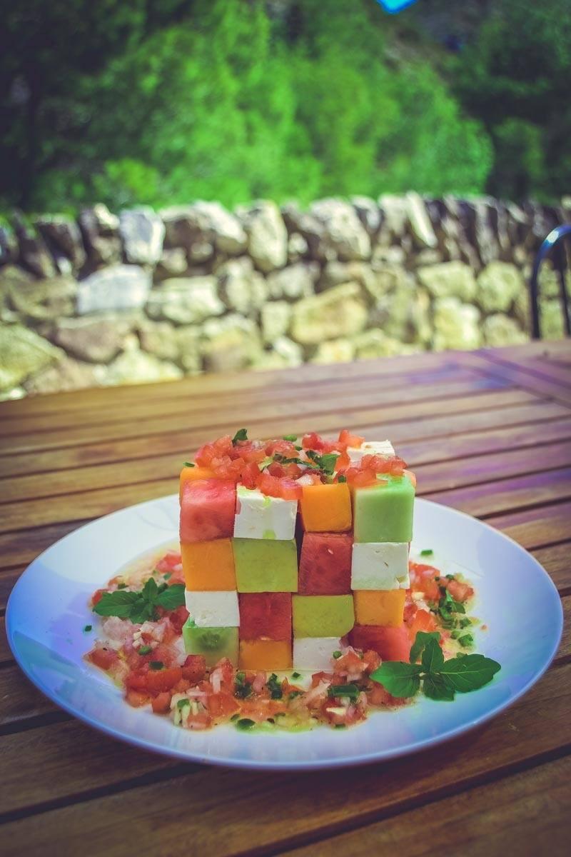 Rezept Melonensalat mit Feta und Avocado