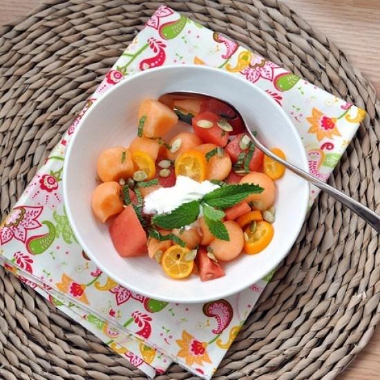 Rezept Melonensalat mit Minze