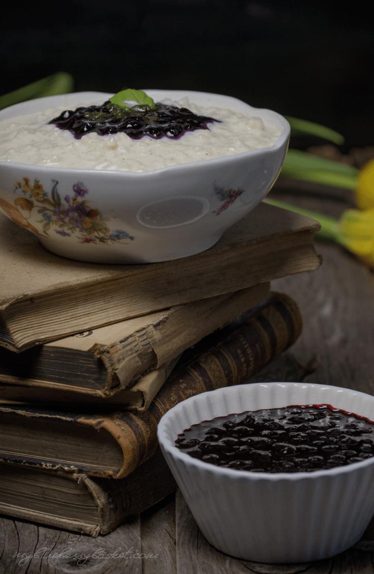 Rezept Milchreis mit Heidelbeeren